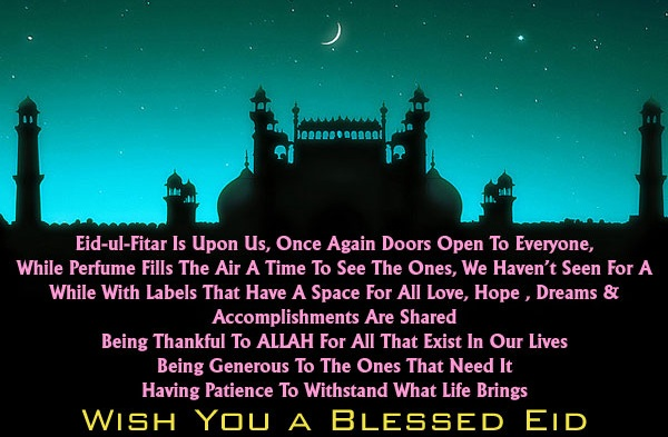 My Eid ul Fitr Holiday